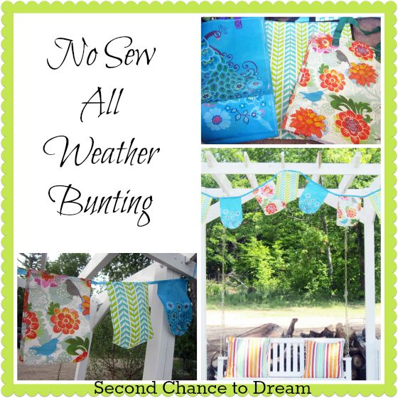 No Sew All Weather Outdoor Bunting The Smalls Shopping
