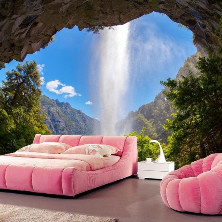 Custom mural wallpaper, Waterfalls Crag Nature wallpaper Beibehang,living room sofa TV wall bedroom 3d wallpaper