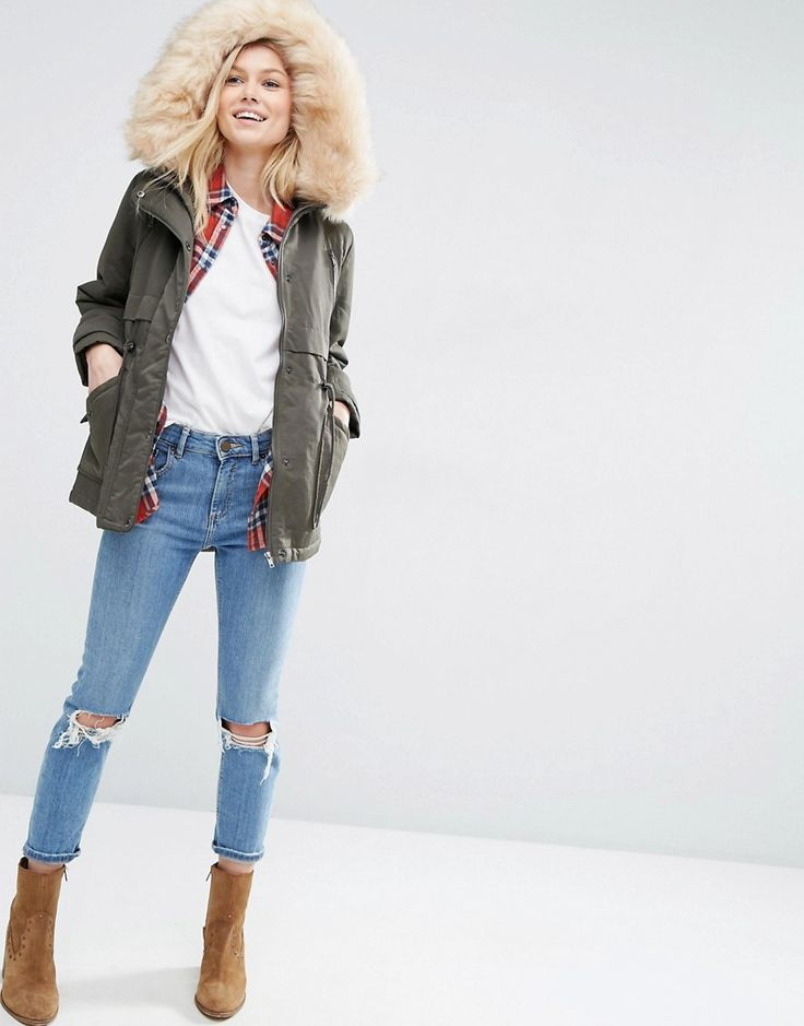 Image 4 of ASOS PETITE Ultimate Parka