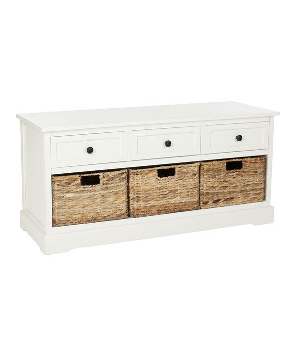 Look at this Cream Abby Three-Drawer Storage Unit on #zulily today!
