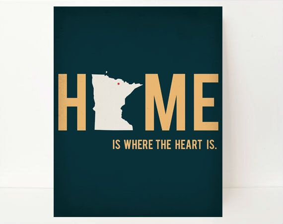 State Silhouette Print Michigan Home State Wall Art, 8x10, Home Is Where The Heart Is Typography, green Dorm Room Decor. $17.99, via Etsy.