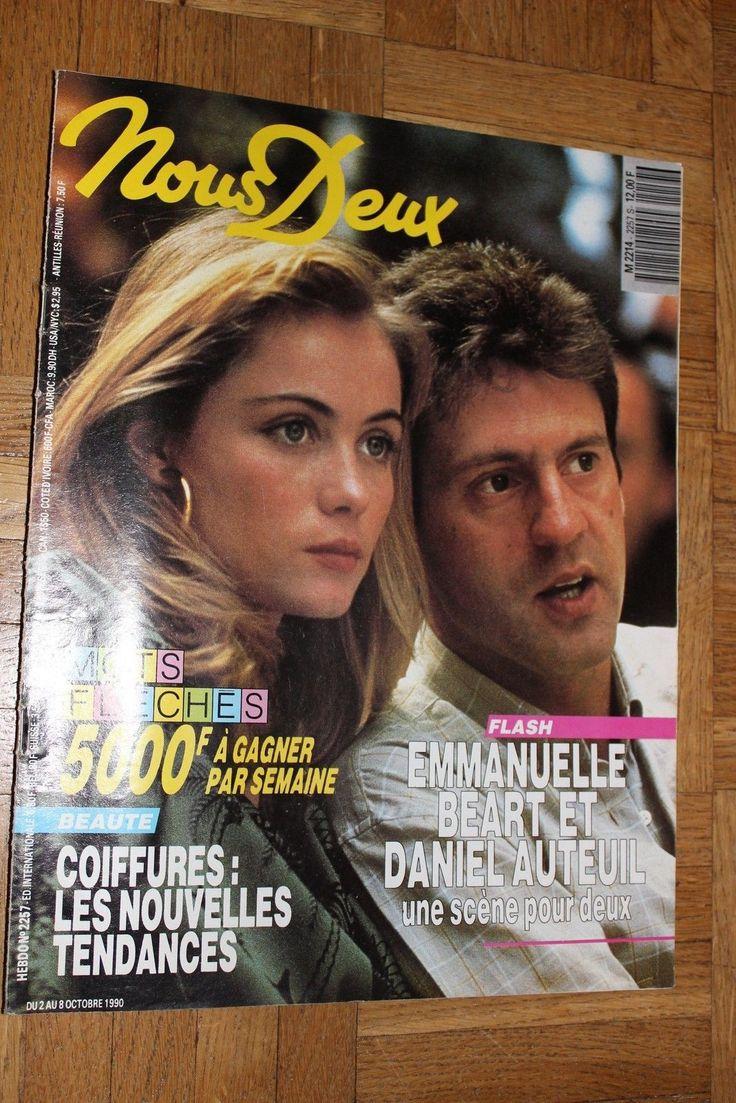 Ancien magazine Nous Deux N°2257 Octobre 1990 Bachelet Auteuil Béart Roman Photo • EUR 6,00
