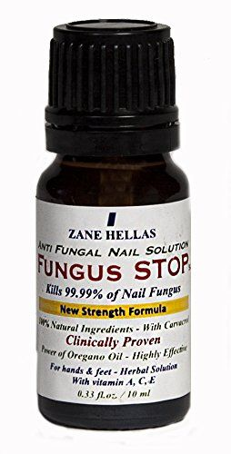 Fungus Stop. Kill 99.9% of nail fungus. Anti fungal Nail Solution. Toenails & Fingernails Solution. 0.33 oz - 10 ml ZANE HELLAS http://www.amazon.co.uk/dp/B014P7X1BS/ref=cm_sw_r_pi_dp_IHHMwb13002C4