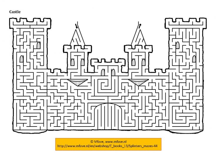 Kasteel Doolhof Voor Hugo Amp Otis Kleurplaat Pinterest