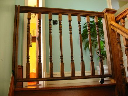 wooden+baby+gates | Wooden Baby Gate - by NewPilgrim @ LumberJocks.com ~ woodworking ...