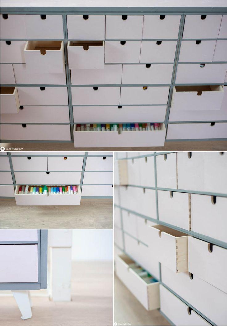 DIY Apothekerschrank aus IKEA MOPPE Schränkchen bauen