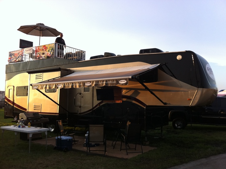 Ordinary Rv With Roof Deck #9: RV Roof Decks By Ultra Coach Inc. | RV Roof Decks | Pinterest | Roof Deck,  Rv And Rv Living
