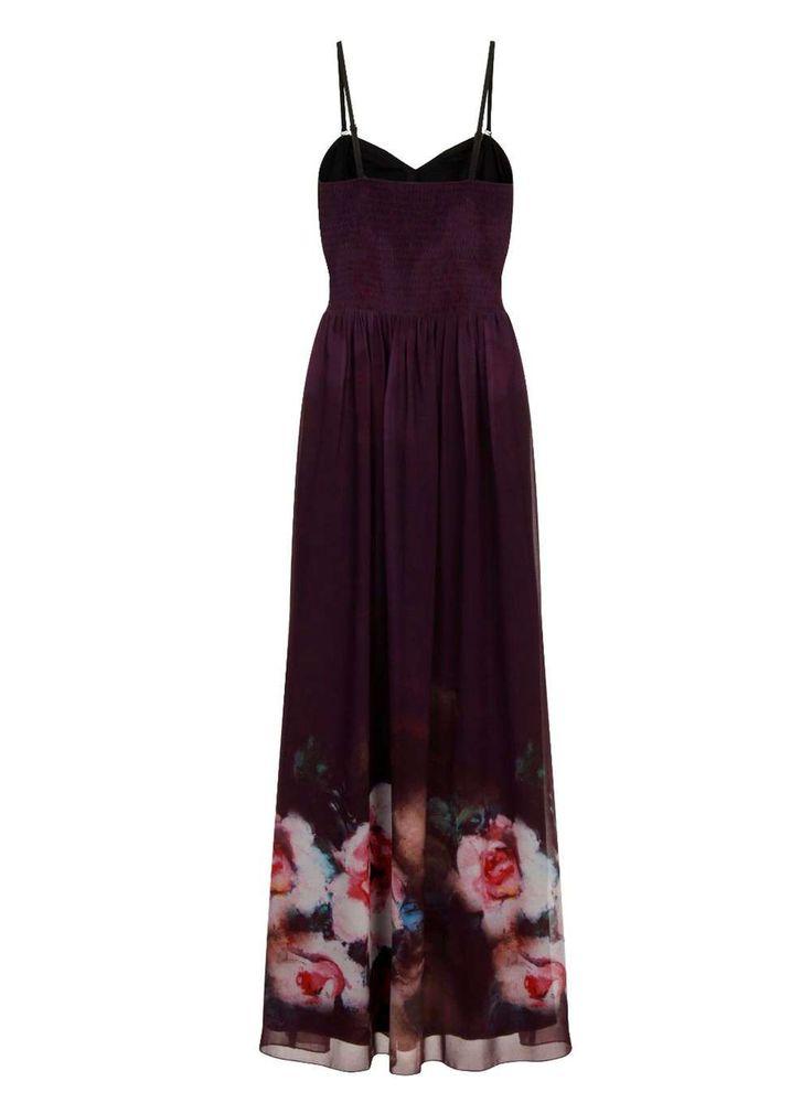 Dorethy Perkins Little Mistress Purple Rose Maxi Dress | £78 på udsalg til £54.60