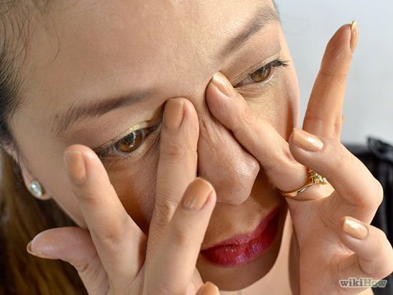 Acupressure for nasal congestion