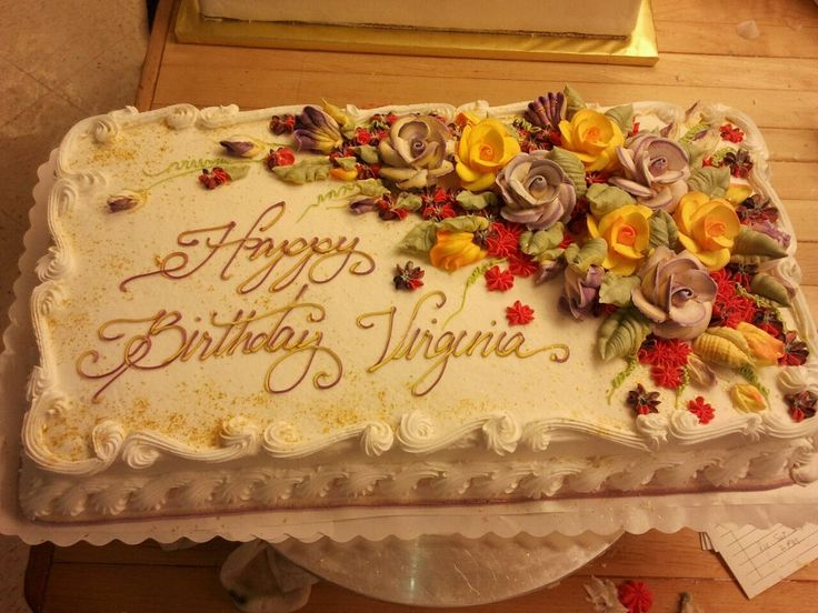 Fall floral birthday cake