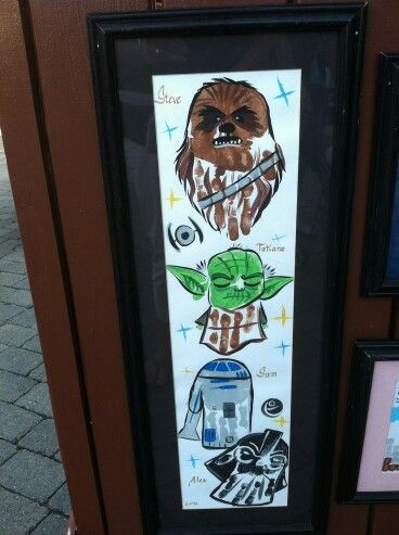 Star Wars Handprint Art (image only)