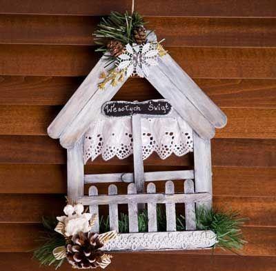 декоративные домики-подвески
