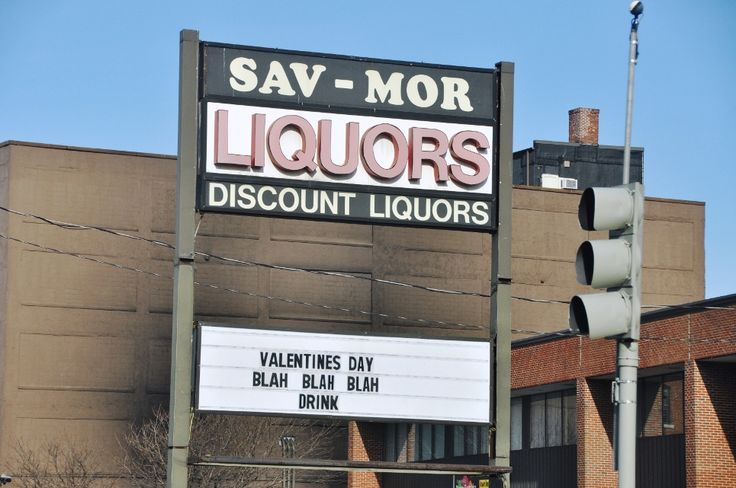 Sav-Mor sign tells it like it is about Valentine's Day