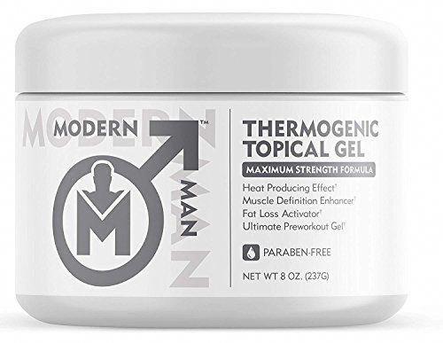 Modern Man Thermogenic Fat Burning Cream – Belly Fat Burner for Men – Skin Tight…