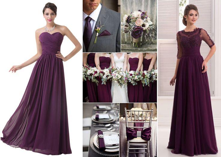 Vínové šaty pre družičky