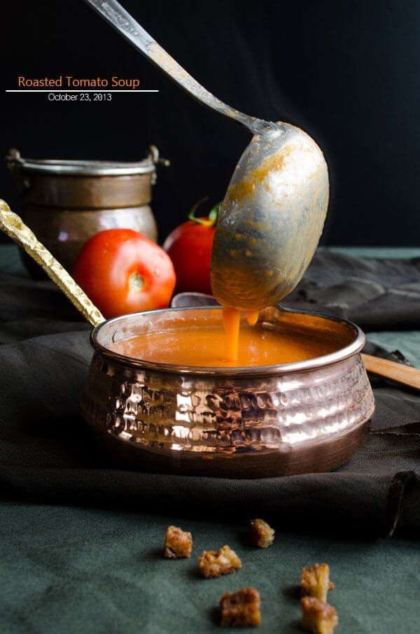 Roasted Tomato Soup | giverecipe.com | #tomato #soup #roastedtomato