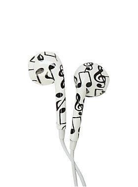 Got an Ear for music? // Micase Music Note Print Earbuds