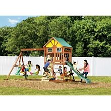I had a cheap swing set, but I loved it. I couldn't find a picture like it.