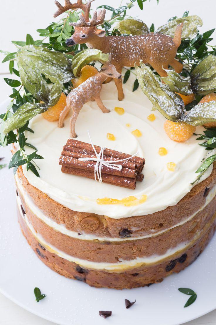 Woodland cake: golosa e fiabesca. Si prepara con del delizioso panettone! [Woodland cake with italian panettone]