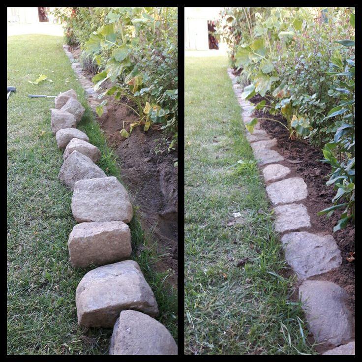 Beet Border With Paving Stones Garden Ideas Diy Garten Landschaftsbau Garten Garten Pflanzen