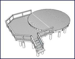 build my own wood yurt   For information on decks for yurts, click here or on the image above