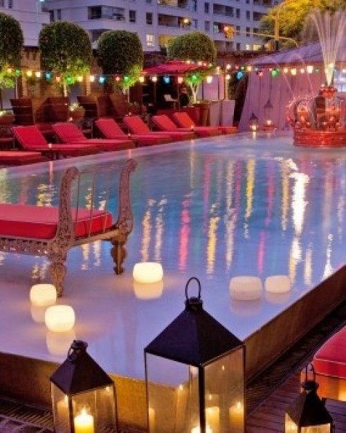The hip Faena Hotel attracts trendsetters with nighttime hotspots like the intimate pool area. #Jetsetter