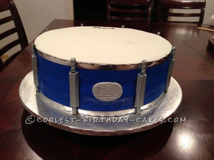 Cool Drum Cake For A Groom Cake Decorating Drum Cake