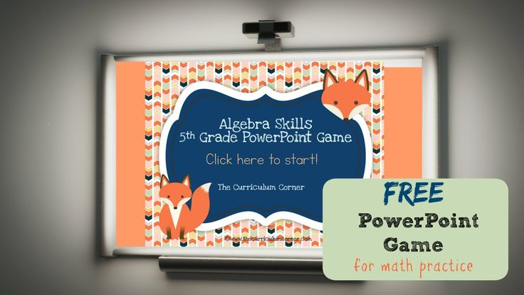 FREE 5th Grade Algebra Game for PowerPoint from The Curriculum Corner | Order of Operations