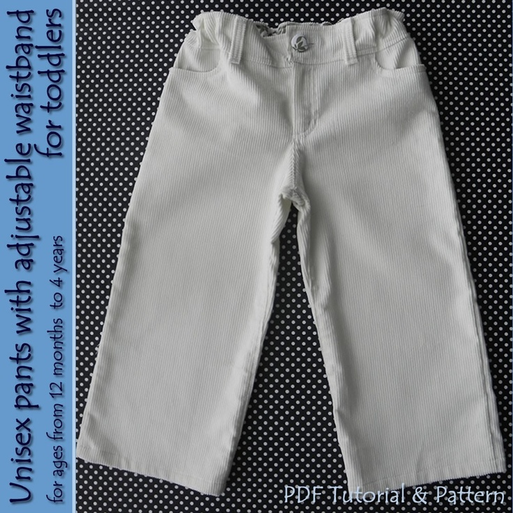 Unisex pants with Adjustable Waistband for toddlers - 12M to 5T