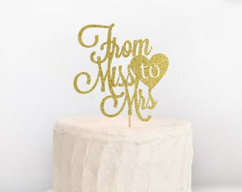 Bride To Be Cake Topper  Bridal Shower Topper  by SocialBashAndCo