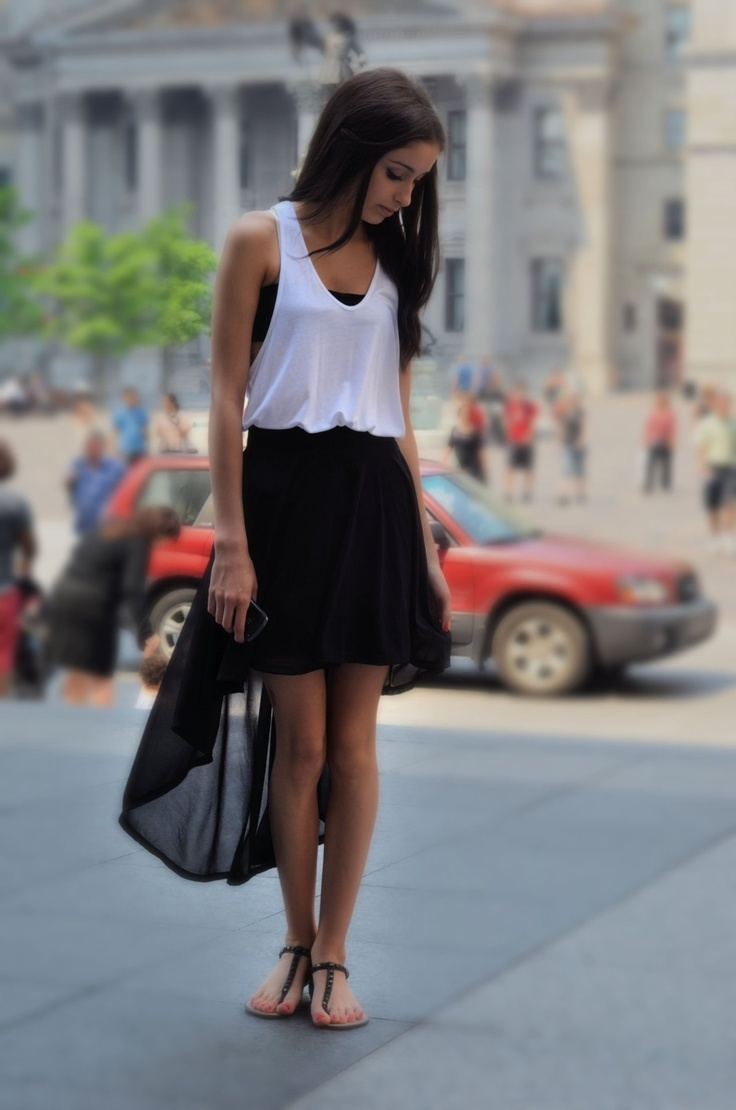 27 best black skirt outfit images on Pinterest