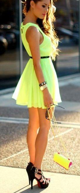 Cute short green summer dresses