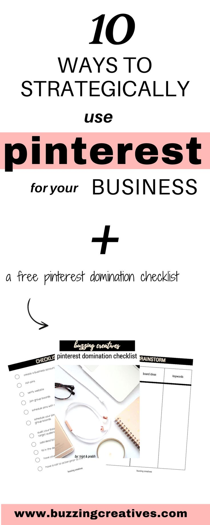 10 ways to strategically use pinterest for your small business or blog Pinterest is such an important tool for every creative entrepreneur. That is why we decided to host a FREE Webinar on 10 ways to strategically use Pinterest for your Business. This Webinar is a great place to start if you have wondered: how can I use Pinterest for my business? many people have made their business thrive because of Pinterest Strategies implemented in their marketing strategy, so can you!