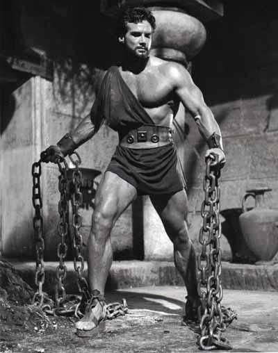 Steve Reeves as Hercules. Films have been made in reference to Hercules for over 50 years.