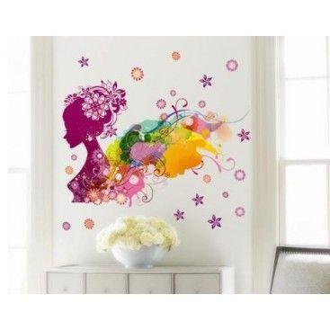 Nálepky na stenu - Víla farieb
