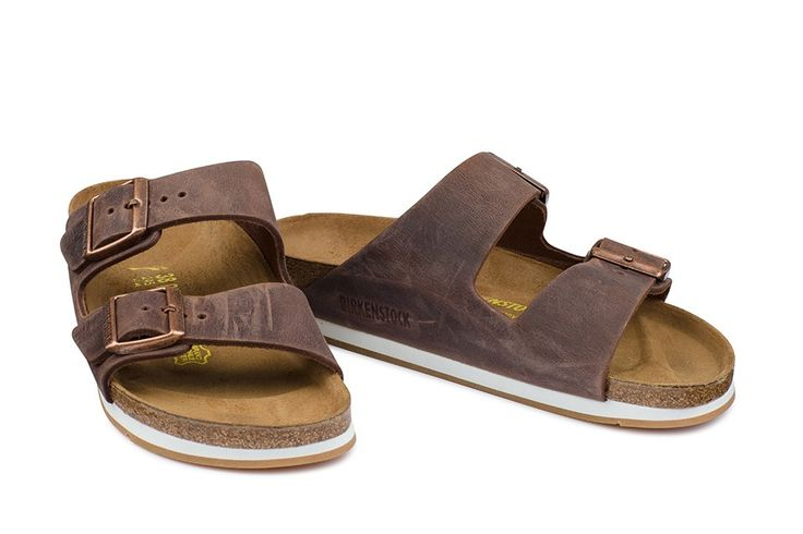 Sandale Birkenstock Arizona brun homme cuir huilé (habana / ls softy comfort) - BK057703 | Birkenstock France