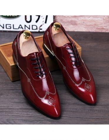 2f45d08d678c Luxury Brand Men Oxfords Shoes Pointed Toe Genuine Leather Dress Party Shoes  Bride Wedding Shoes Riv
