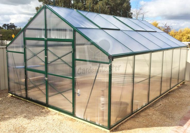 This greenhouse is available in black and green.