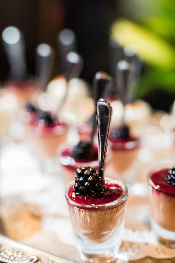 Delicious chocolate mousse and berry wedding dessert idea (Viera Photography)