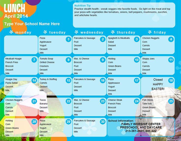 Best 25+ Daycare menu ideas on Pinterest | Toddler menu, Daycare ...