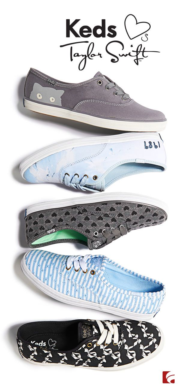 The gang's all here! The full Taylor Swift Keds collection will unite the style of Swifties everywhere. Three styles are exclusive to Famous Footwear!