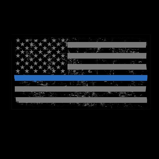 Police and Law Enforcement Thin Blue Line Flag