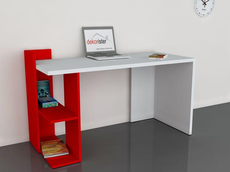 Arrival Çalışma Masası Beyaz-Kırmızı 199,00 TL
