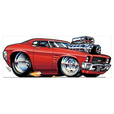 Rohan Day Drawings   CafePress > Wall Art > Posters > HQ Holden Monaro Poster