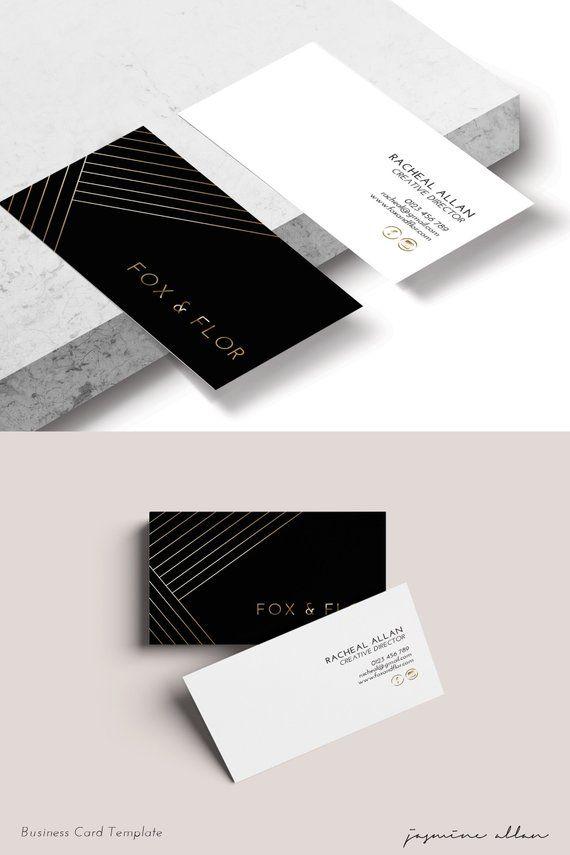 Editable Black And Gold Business Card Diy Corjl Template Minimalist Entrepreneur Branding Bold Business Card Edgy Branding Printable Masculine Business Cards Graphic Design Business Card Business Card Design Black