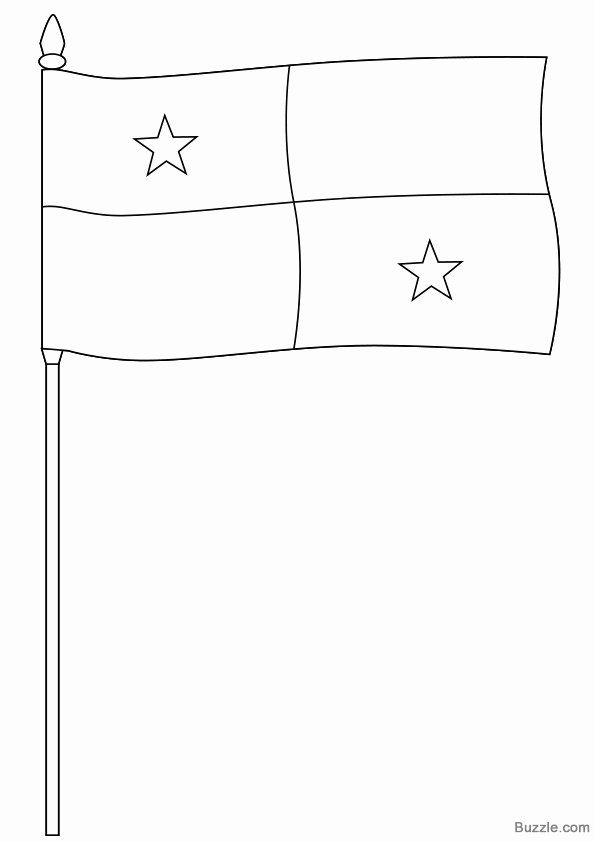 Panama Flag Coloring Page Luxury Panama Flag Coloring Page