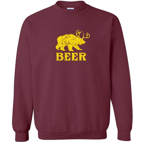 Beer funny deer Bear Animal Unisex Sweatshirt //Price: $27.49 //     #specialtees