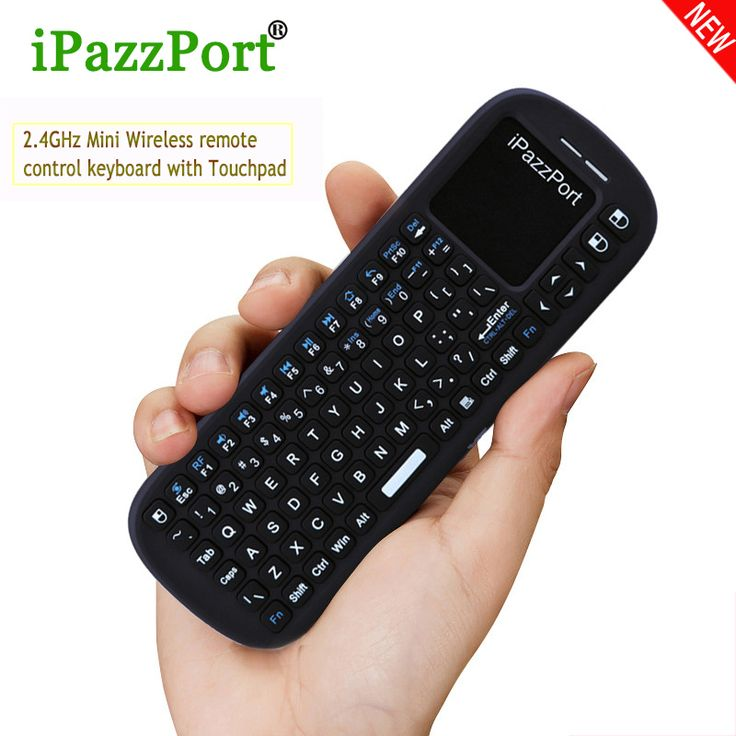 24GHz USB Mini Wireless QWERTY Keyboard Remote Control With Air Mouse TouchPad For Windows