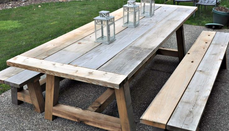 How to Build a Restoration Hardware Inspired Outdoor Table and Benches