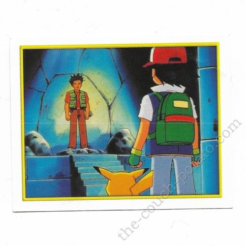 Pokemon Sticker Card  Brock Ash Pikachu # 025 2x3 inches Merlin 2000 TV show pictures
